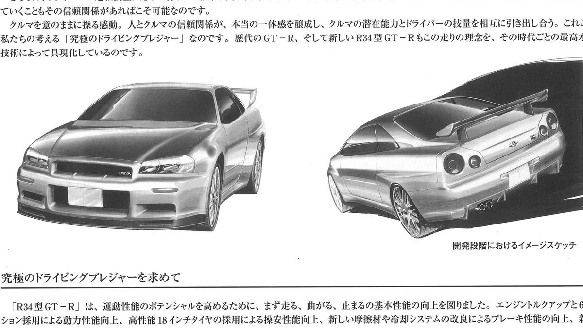 R34 GTR Entwurf.