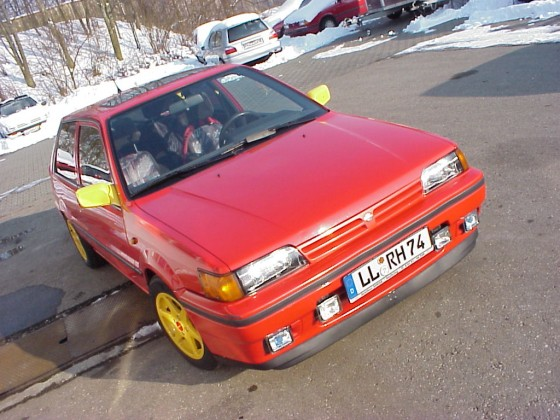 Mein Winterauto Schräg
