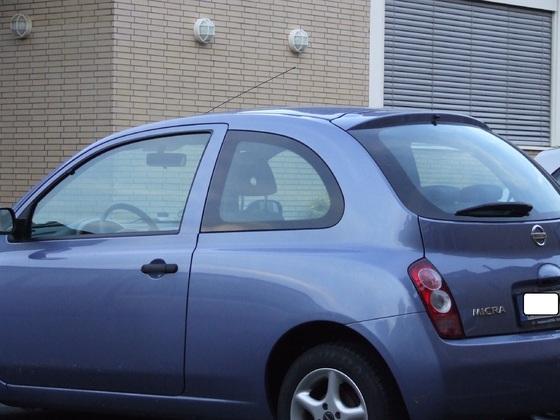 Nissan Micra K12 vor und nach Scheibenfolierung