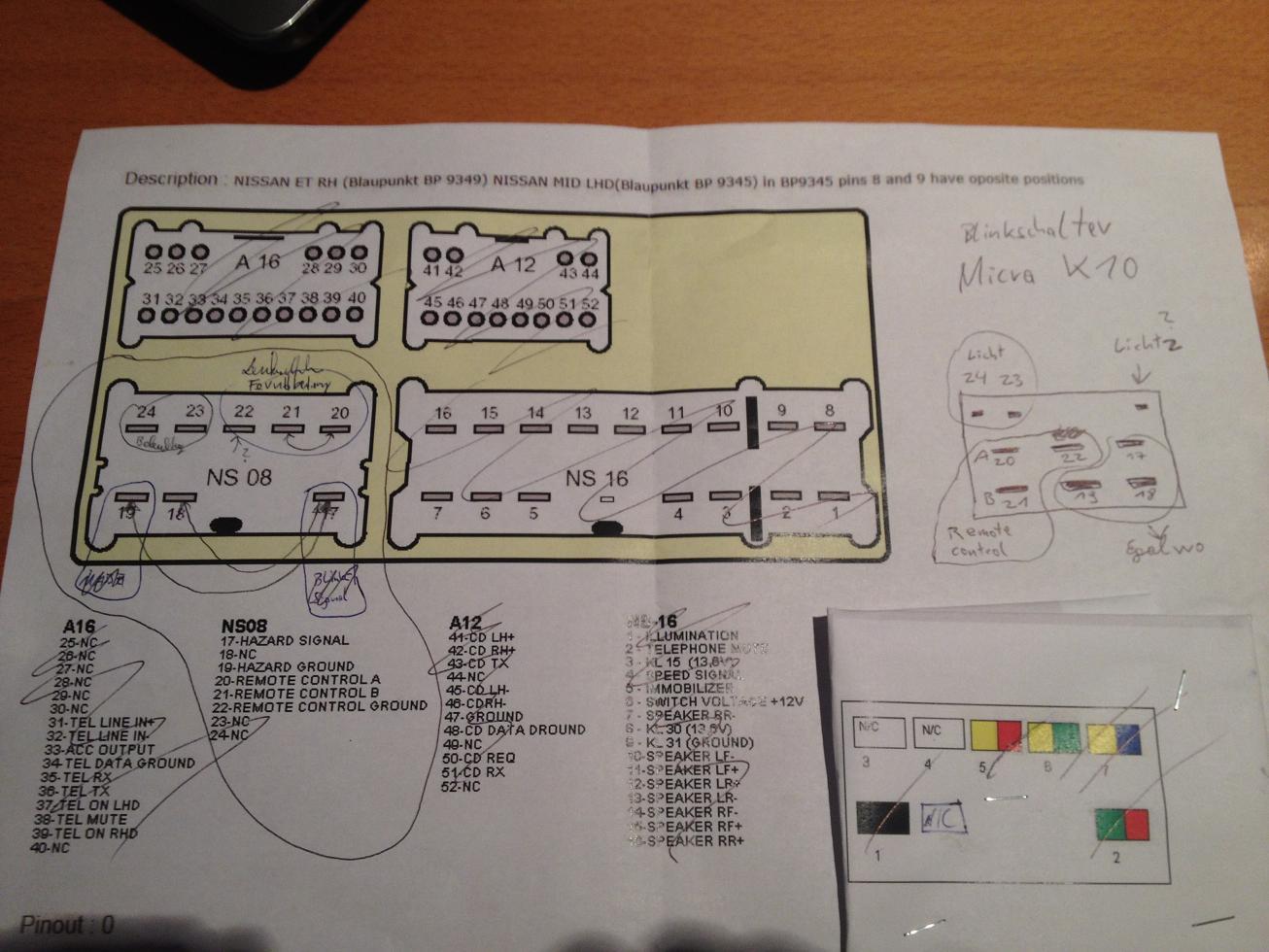 Großartig Nissan Radio Schaltplan Galerie - Schaltplan Serie Circuit ...